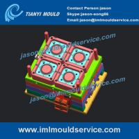 Cheap 4 cavities china plastic thin wall injection mould produced, high speed thin wall mould wholesale
