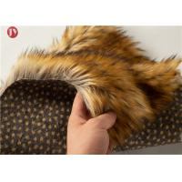 Cheap Animal Jacquard Extra Long Pile Faux Fur Fabric Raccoon Upholstery Sewing Crafts Fiber wholesale