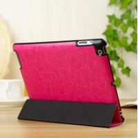 Cheap Thin Flip Apple Leather Case Stand For iPad 5 / iPad Air Protective In Red wholesale