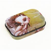 Cheap Customer hinged lid Rectangular Tin Box Gift Chocolate / Biscuit Cookie Candy wholesale