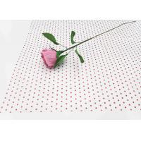 Cheap 17gsm Waxed Wrapping Dotted Tissue Paper Foil Tissue Paper Sheets Metallic Red Dot Pattern wholesale