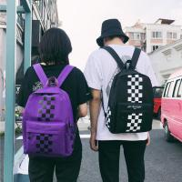 Cheap Summer 2018 new cool style color checkerboard backpack handbag school bag wholesale