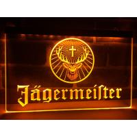 Cheap Factory Wholesale Wall-mounted Jagermeister Deer head LED Illuminated Neon Bar Sign Display wholesale