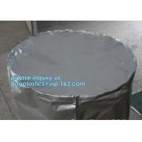 Cheap Round Bottom Heavy Duty Plastic Bags Chemical Resistant Cylinder Drum Barrel Liners wholesale