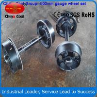 Cheap 762mm Cast steel mine car wheel sets , wheel sets for track transporting wholesale