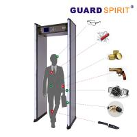Cheap 2 Columns Led Guard Spirit Metal Detector Security 18 Detecting Zones for sale