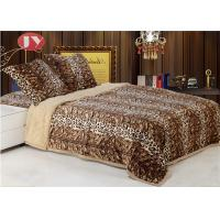 Cheap Faux fur plush animal print large size double layers microplush Faux Fur Reversible throw blankets for winter wholesale