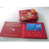 Cheap One Button Control LCD Video Brochure , 7 Inch LCD Video Business Card Durable wholesale
