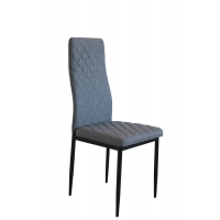 Cheap Upholstered Diamond Lines ODM Grey Fabric Dining Chairs wholesale