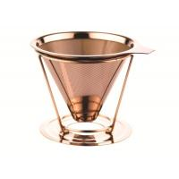 Cheap Double Layer Custom Paperless Coffee Dripper With Cup Stand , FDA LFGB Standard wholesale