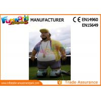 Cheap Oxford Cloth White Advertising Inflatables Man / Blow Up Cartoon Mascot wholesale