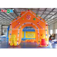 Cheap 4*4m Oxford Fabric Inflatable Christmas Archway for Holiday Decorations wholesale