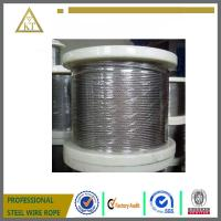 Cheap galvanized steel wire rope 1x19 wholesale