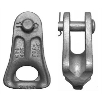 Cheap ADSS/OPGW Accessories ductile iron galvanized thimble clevis for dead end 120KN wholesale