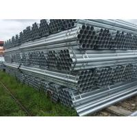 Galvanized Circle Hollow Section carbon steel tube / Hot Rolled Round Steel Tube for Construction