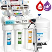 Cheap CE certificate household pre-filtration 7 stages undersink with UV lamp PH 8.5 ro water filter wholesale