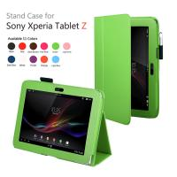 Cheap Book Leather Sony Xperia z Cases And Covers Pouch With Classic Stand wholesale