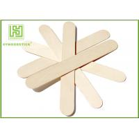 Cheap Craft Stick Plain Taster Ice Cream Wooden Sticks Ice Cream Paddle Spoon Paper Wrapped for sale