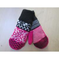 Cheap Ladies Acrylic Glove/Mitt with Jacquard--TR Lining glove--Fashion glove--Solid color wholesale