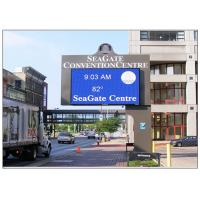 Cheap WIFI Commercial Advertising Outdoor Electronic Signage , Wall Mounted IP54 Full Color LED Sign wholesale