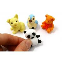 Cheap 3D animal design gift promotional rubber eraser wholesale