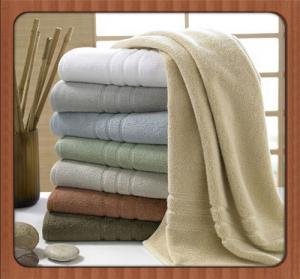 Cheap Wholesale custom beach towel 70% bamboo fiber 30% cotton hotel bath towel fabric wholesale