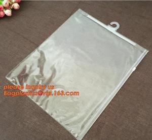 Cheap underwear packaging hanger plastic,Slider Zipper Hanger Hook Bag For Men's Box / Underwear Packaging bagplastics bagease wholesale
