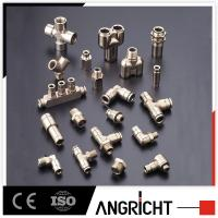 Cheap Push in brass with nickle plated air fitting,metal pneumatic fitting wholesale