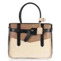 Cheap Color Block Leather Totes More Space For Stuff Big Fashion Hobo Leather Handbags  wholesale