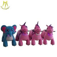 China Hansel  kids battery operated plush toys rideable animal toy on sale