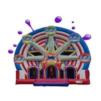 Cheap Ferris Wheel Inflatable Combo Bounce House / Commercial Jumping Castle wholesale