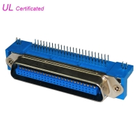 Cheap Male PCB Right Angel 50 Pin Centronics Connector , Plug Champ Connectors wholesale