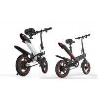 Cheap High Speed Lightest Smart Folding Electric Bike Inflated Tire White / Black / Red wholesale
