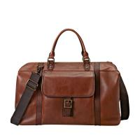 Cheap Old Vintage Leather Italian Leather Duffel Bag Business Travelling Bag For Men wholesale