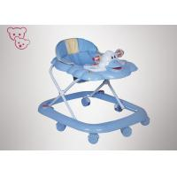 Square Base Compact Baby Walker , Easy Folding Convertible Baby Walker