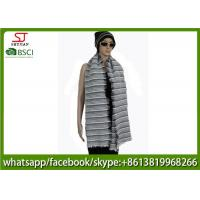 176g 180*60cm 100%Acrylic woven crochet stripe scarf poncho best price factory  keep warm fashion china supplying
