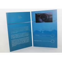 Cheap Electronic magnetic button lcd video mailer for education / graduations , A4 / A5 size wholesale