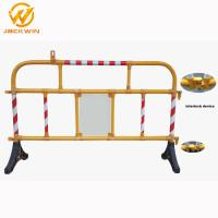 Buy cheap Safety Plastic Traffic Barriers , PVC Portable Road Barriers Control Size 1500*1000mm from wholesalers