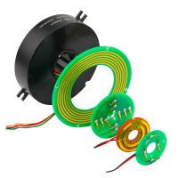 Cheap Pancake Slip Rings of Custom Through Hole Size with High Rotating Speed and Stable Contact wholesale