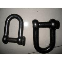Cheap Self Colored Steel Shackles , Square Head Screw Pin Shackle European Standard wholesale