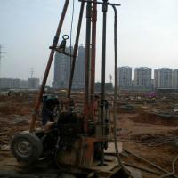 Cheap 2 Wheels Trailer Geotechnical Portable Water Drilling Rig With Mud Pump wholesale