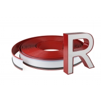 Cheap 3D Sign Channel Extrusion 0.5MM Red Color Channelume Aluminum Coil wholesale