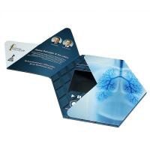 Quality VIF Custom Hexagon LCD Video Brochure Custom Gift Video Greeting Cards 7'' for sale