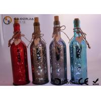Cheap Electroplate Finish Wine Bottle Led Lights With Paint Color / Words wholesale