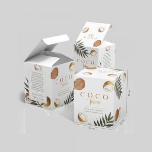 Cheap Custom Logo Folding Paper Candle Packaging Cardboard Paper Box wholesale