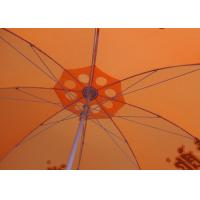 Cheap 36 Inch Orange Beach Umbrella Round Shaped With Aluminum Umbrella Handle wholesale