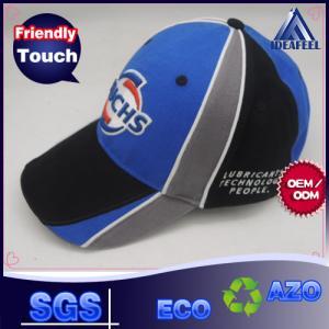 Pathches Connecting Embroidery Casual Baseball Caps , 6 Panels Mens Summer Baseball Hats