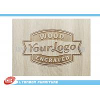 Cheap Customized Engraved Wood Display Logo For Display Accessory , Paint Finished wholesale