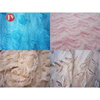 Cheap Brushed Embossed Plush Toy Fabric 100% Polyester PV Plush Shrink - Resistant wholesale