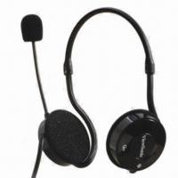 Cheap Multimedia Headset, Available in Black and White Colors wholesale
